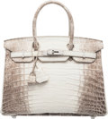 "Luxury Accessories:Bags, Hermès 30cm Himalayan Niloticus Crocodile Birkin Bag with Palladium Hardware. T, 2015. Condition: 1. 12"" Width x 8..."