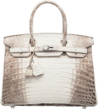 Hermès 30cm Himalayan Niloticus Crocodile Birkin Bag with Palladium Hardware T, 2015 Condition: 1