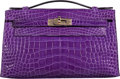 "Luxury Accessories:Bags, Hermès Crocus Alligator Kelly Pochette Bag with Gold Hardware. Q Square, 2013. Condition: 2. 8.5"" Width x 5"" Heigh..."