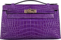 Hermès Crocus Alligator Kelly Pochette Bag with Gold Hardware Q Square, 2013 Condition: 2
