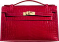 """Luxury Accessories:Bags, Hermès Shiny Braise Niloticus Crocodile Kelly Pochette Bag with Gold Hardware. Q Square, 2013. Condition: 1. 8.5"""" ..."""