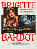 Movie Posters:Sexploitation, Love is My Profession (Kingsley International, 1959). Fold...