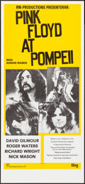 Movie Posters:Rock and Roll, Pink Floyd: Live at Pompeii (Rosenbergs Filmbyra, 1978). Rolled,Very Fine/Near Mint. First Release Swedish Insert (1...