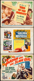 """Movie Posters:Adventure, Tarzan and the Slave Girl & Other Lot (RKO, 1950). Overall:Fine/Very Fine. Title Lobby Cards (3) (11"""" X 14""""). Advent..."""