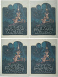 """Movie Posters:Science Fiction, Star Wars (20th Century Fox, 1977). Near Mint. Iron-On T-ShirtDecals (4) Identical (9.5"""" X 12.5"""") Greg and Tim Hilde..."""