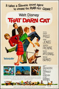 Movie Posters:Comedy, That Darn Cat & Other Lot (Buena Vista, R-1973). Folded, V...