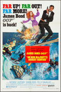 "Movie Posters:James Bond, On Her Majesty's Secret Service (United Artists, 1970). Folded, Very Fine-. One Sheet (27"" X 41""). Style B, Frank McCarthy A..."