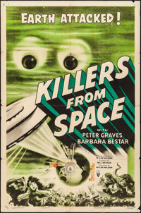 "Killers from Space (RKO, 1954). Folded, Fine+. One Sheet (27"" X 41""). Science Fiction"
