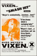 Movie Posters:Sexploitation, Vixen! (Eve Productions, 1968). Folded, Very Fine+.