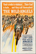 "Movie Posters:Exploitation, The Wild Angels (American International, 1966). Folded, Fine+. OneSheet (27"" X 41""). Reynold Brown Artwork. Exploita..."