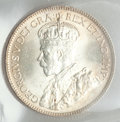 Canada: George V 25 Cents 1919 MS64 ICCS