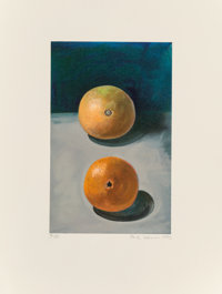 Paul Wonner (1920-2008) Two Oranges, 1992 Lithograph in colors on wove paper 15-3/4 x 12-1/4 inch