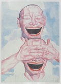 Prints & Multiples:Contemporary, Yue Minjun (Chinese, b. 1962). Untitled (Smile-ism No. 1), 2005. Lithograph in colors on paper. 43 x 31-1/2 inches (109....