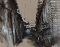 Paintings:Contemporary, Lu Hao (Chinese, b. 1969). Untitled (Bicycle in Alley), 2006. Acrylic on linen. 31-1/2 x 39-1/4 inches (80.0 x 99.7 cm)...