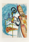 Fine Art - Work on Paper:Print, Salvador Dalí (1904-1989). King Richard, from Ivanhoe, 1977. Lithograph in colors on Arches paper. 29-1/4 x 21-5/8 i...