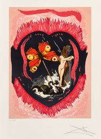 Salvador Dalí (1904-1989) Le Triomphe, from Triumph of Love, 1977 Lithograph in colors on