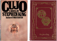 Stephen King Cujo First and Signed Slipcase Editions Group of 2 (Viking Press/Mysterious Press, 1981)