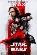 "Movie Posters:Science Fiction, Star Wars: The Last Jedi (Walt Disney Studios, 2017). Rolled, Very Fine/Near Mint. IMAX Mini Poster (13"" X 19"") & Cinemark X... (Total: 2 Items)"
