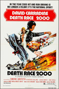 """Movie Posters:Science Fiction, Death Race 2000 (New World, 1975). Folded, Very Fine. One Sheet(27"""" X 41""""). John Solie Artwork. Science Fiction.. ..."""