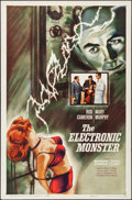 """Movie Posters:Science Fiction, The Electronic Monster (Columbia, 1960). Folded, Very Fine. OneSheet (27"""" X 41""""). Science Fiction.. ..."""