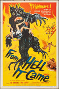 "Movie Posters:Horror, From Hell It Came (Allied Artists, 1957). Folded, Fine/Very Fine.One Sheet (27"" X 41""). Horror.. ..."