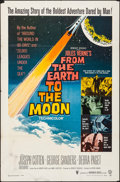 Movie Posters:Science Fiction, From the Earth to the Moon (Warner Brothers, 1958). Folded...