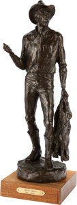 American, Grant Speed (American, 1930-2011). Broke Again, 1981. Bronze with brown patina. 23-1/2 inches (59.7 cm) high on a 1-7/8 ...
