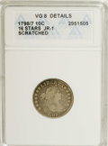 Early Dimes: , 1798/97 10C 16 Stars on Reverse--Scratched--ANACS. VG8 Details.JR-1, R.3. This variety combines the overdate obverse with ...