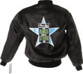 Music Memorabilia:Costumes, Ringo Starr Unreleased Tour Jacket. A black satin jacket withsunglasses logo on the left breast and Ringo and His All-Starr...