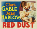 "Movie Posters:Romance, Red Dust (MGM, 1932). Half Sheet (22"" X 28""). Clark Gable runs arubber plantation and Jean Harlow plays a working girl down..."