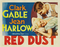 """Red Dust (MGM, 1932). Half Sheet (22"""" X 28""""). Clark Gable runs a rubber plantation and Jean Harlow plays a wor..."""