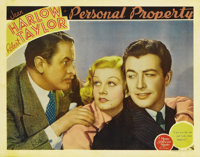 """Personal Property (MGM, 1937). Title Lobby Card (11"""" X 14"""") Lobby Card (11"""" X 14""""). Jean Harlow wise..."""