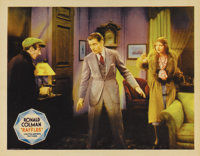 "Raffles (United Artists, 1940). Lobby Card (11"" X 14""). Ronald Colman stars as the notorious jewel thief (reti..."