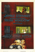 "Movie Posters:Hitchcock, Rear Window (Paramount, 1954). One Sheet (27"" X 41""). In one ofAlfred Hitchcock's most suspenseful pictures, James Stewart,..."