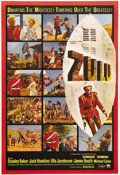 "Movie Posters:War, Zulu (Paramount, 1964). One Sheet (27"" X 41""). Double-SidedAdvance. In South Africa at the end of the 19th century, an army..."