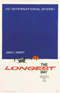 """Movie Posters:War, The Longest Day (20th Century Fox, 1962). One Sheet (27"""" X 41"""")Advance. Rare style for Darryl F. Zanuck's classic war film ..."""