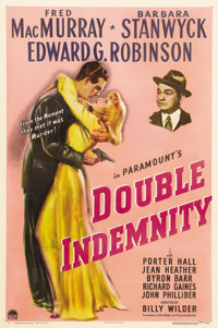 """Double Indemnity (Paramount, 1944). One Sheet (27"""" X 41""""). Another shining example on Billy Wilder's film resu..."""