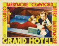 "Movie Posters:Drama, Grand Hotel (MGM, 1932). Lobby Card (11"" X 14""). Joan Crawfordseems to be plotting something mischievous in this lobby card..."