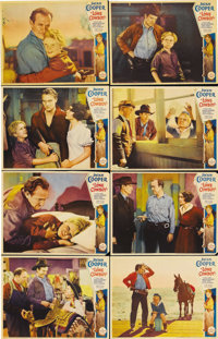 """Lone Cowboy (Paramount, 1933). Lobby Card Set of 8 (11"""" X 14""""). Jackie Cooper plays a kid from the East Coast..."""