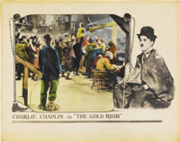 "The Gold Rush (United Artists, 1925). Half Sheet (22"" X 28""). In one of the little tramp's greatest pictures..."