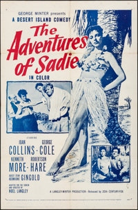 "The Adventures of Sadie (20th Century Fox, 1953). Folded, Fine/Very Fine. One Sheet (27"" X 41""). Comedy"