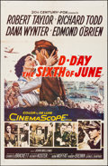 "Movie Posters:War, D-Day The Sixth of June (20th Century Fox, 1956). Folded, VeryFine-. One Sheet (27"" X 41""). War.. ..."