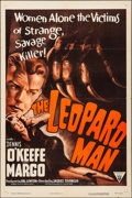 "Movie Posters:Horror, The Leopard Man (RKO, R-1952). Folded, Very Fine. One Sheet (27"" X41""). Horror.. ..."