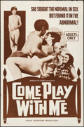 """Movie Posters:Sexploitation, Come Play with Me & Other Lot (Nova International Productions,1968). Folded, Fine/Very Fine. One Sheets (2) (27"""" X 4..."""