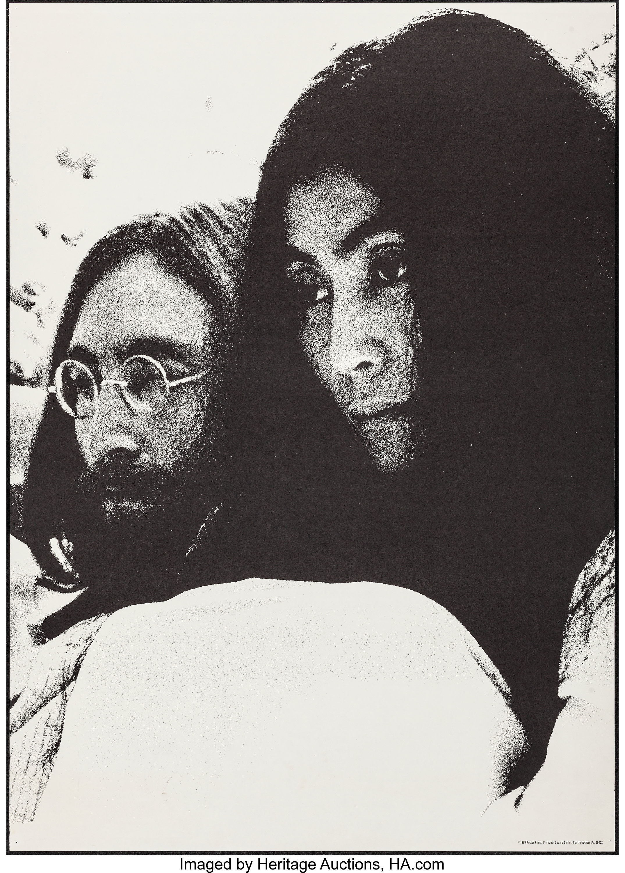 John Lennon And Yoko Ono Poster Prints 1969 Rolled Very Fine Lot 54240 Heritage Auctions