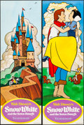 "Movie Posters:Animation, Snow White and the Seven Dwarfs (Buena Vista, R-1975). Rolled, Very Fine. Door Panel Set of 4 (19.5"" X 59""). Animation.. ... (Total: 4 Items)"