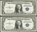 Small Size:Silver Certificates, Fr. 1616 $1 1935G No Motto Silver Certificate. Choice Crisp Uncirculated;. Fr. 1617* $1 1935G With Motto Silver Certificat... (Total: 2 notes)