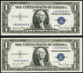 Small Size:Silver Certificates, Fr. 1613N* $1 1935D Narrow Silver Certificate Stars. Two Examples. Choice Crisp Uncirculated.. ... (Total: 2 notes)