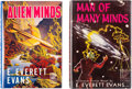 Books:First Editions, E. Everett Evans Man of Many Minds and Alien Minds Hardcover First Editions Group of 2 (Fantasy Press,... (Total: 2 Items)