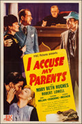 Movie Posters:Drama, I Accuse My Parents (Producers Pictures Corp., 1944). Fold...